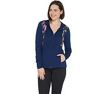 Susan Lucci Collection Hooded Jacket with Color Block Print - A308273