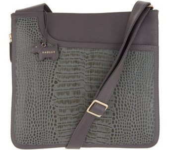 RADLEY London Pocket Croc Embossed Leather Zip-Top Crossbody - A341773 e452b2ea68