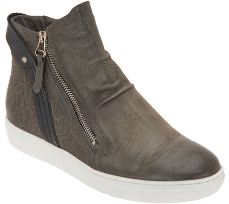 Miz Mooz Leather Zip-Up Sneakers - Lulu