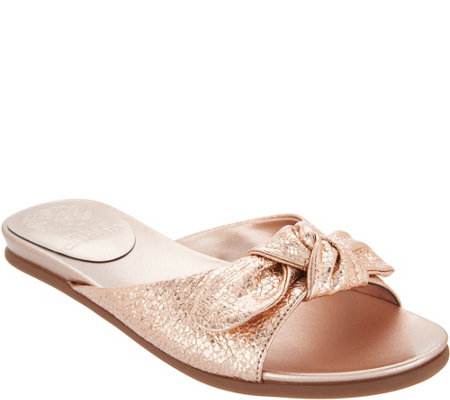 """As Is"" Vince Camuto Bow Slides- Ejella"