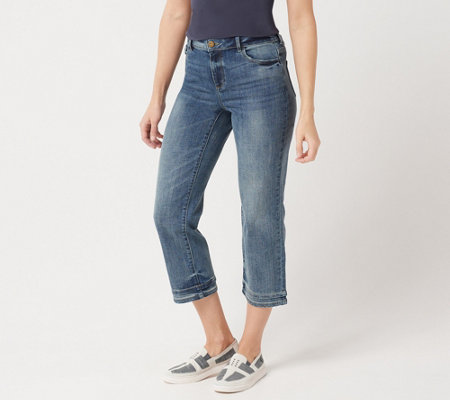 Logo By Lori Goldstein 5 Pocket Crop Straight Leg Jean W Hem