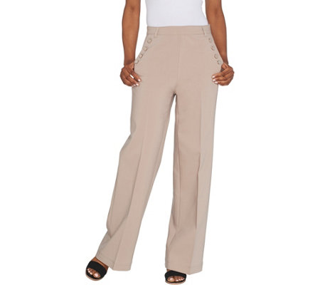 """As Is"" Lisa Rinna Collection High Waist Wide Leg Pant"