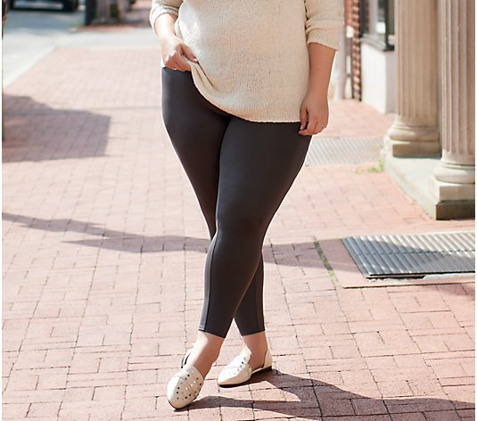 """As Is"" All Worthy Hunter McGrady The Ultimate Reg. Faux Legging"