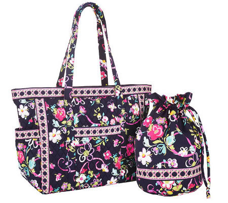Vera Bradley Signature Print Get Carried Away Tote & Ditty Bag