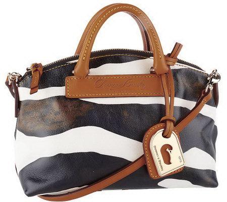5edd4d43dc Dooney   Bourke Leather Zebra Mini Juliette Bag - Page 1 — QVC.com