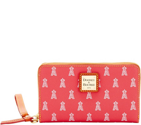 Dooney & Bourke MLB Angels Zip Around Phone Wristlet