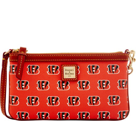 Dooney & Bourke NFL Bengals Large Slim Wristlet