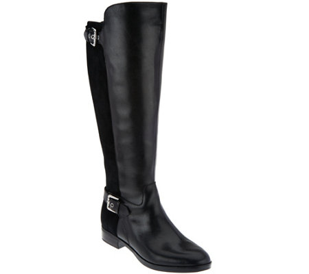 """As Is"" Marc Fisher Wide Calf Tall Shaft Leather Boots - Damsel"