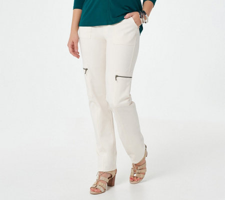 Susan Graver Weekend Premium Stretch Pull-On Cargo Pants