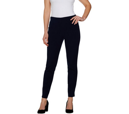 """As Is"" Kelly by Clinton Kelly Regular Pull-On Pants with Side Zip"