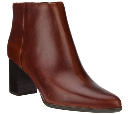 Rockport Total Motion Leather Ankle Booties - Lynix