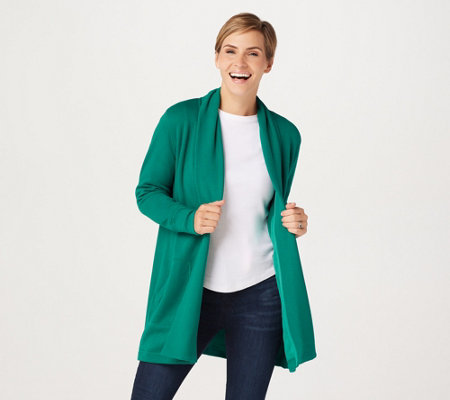 Isaac Mizrahi Live! SOHO Plushed Back Open Front Jacket
