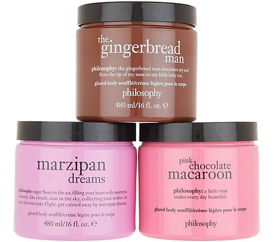 philosophy the bakery glazed body souffle trio