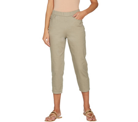 """As Is"" Belle by Kim Gravel Stretch Twill Cropped Pants"