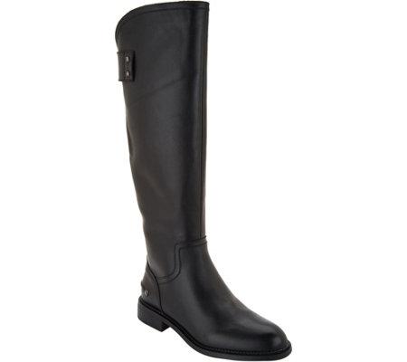 e53520e9141 Franco Sarto Leather Wide Calf Tall Boots - Henrietta — QVC.com