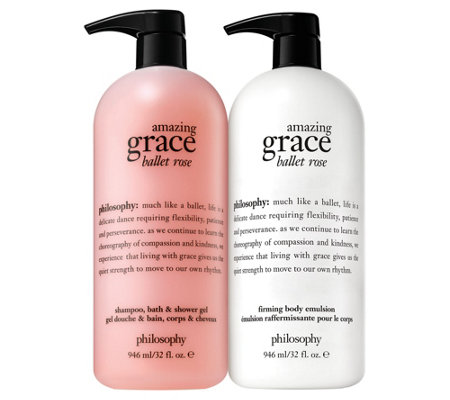 philosophy super-size grace & roses shower gel & body lotion duo