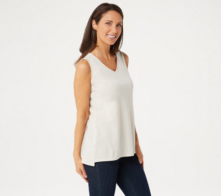 Elizabeth Clarke Staintech Sleeveless V Neck Top