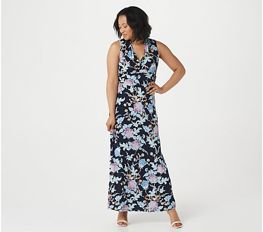 Vince Camuto Poetic Blooms Halter Maxi Dress