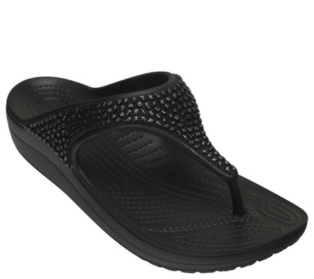 Crocs Embellished Flip Sandals - Sloane