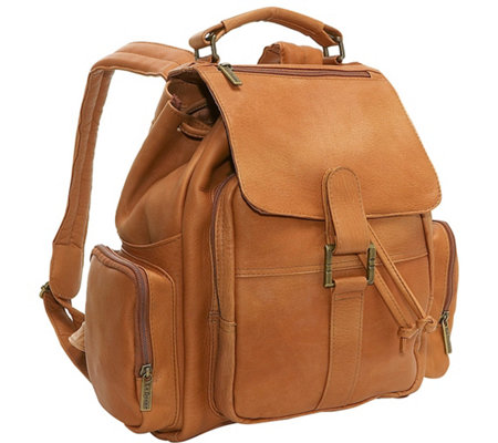 Le Donne Leather Multi-Pocket Backpack