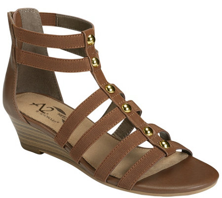 A2 by Aerosoles Strappy Wedge Sandals - Here WeGo