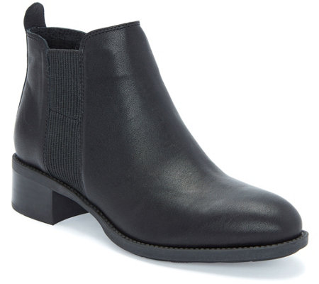 Me Too Pull-On Leather Chelsea Booties - Shane