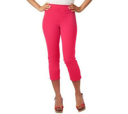 """As Is"" Isaac Mizrahi Live! 24/7 Stretch Cropped Pull-On Pants"