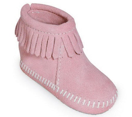 Minnetonka Infant's Hook-and-Loop Back Flap Booties