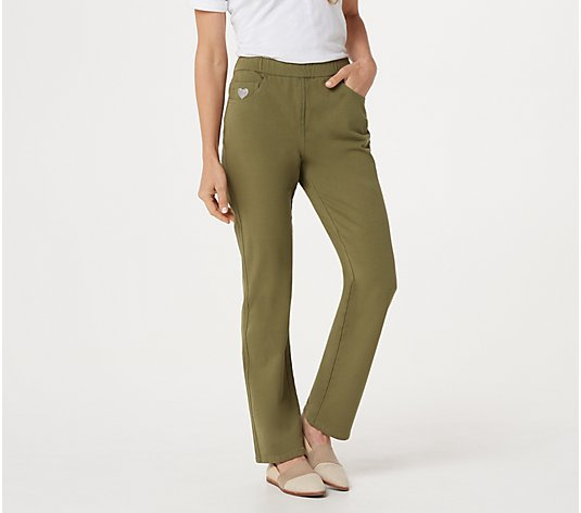 Quacker Factory DreamJeannes Pull-on Straight Leg Pants