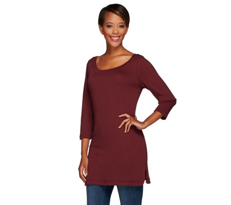 Isaac Mizrahi Live! Essentials Ballet Neck Tunic