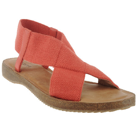 Adam Tucker Stretch Criss Cross Strap Sandals - Amora