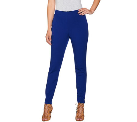 Attitudes by Renee Stretch Supreme Knit Pull-On Ankle Pants