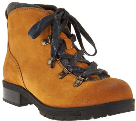 Clarks Leather Water Resistant Hiking Boots - Faralyn Alpha