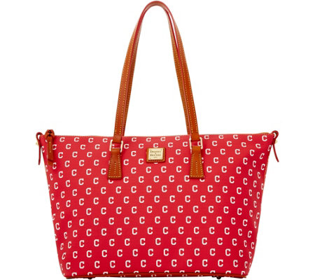 Dooney & Bourke MLB Indians Zip Top Shopper