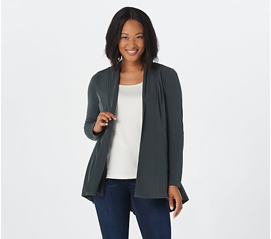 Susan Graver Liquid Knit Long Sleeve Cardigan
