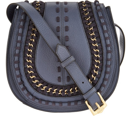 Aimee Kestenberg Pebble Leather Large Saddle Crossbody