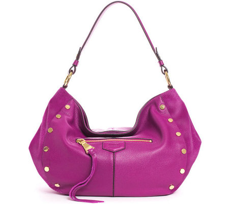 """As Is"" Aimee Kestenberg Pebble Leather Hobo Handbag- Charlie"