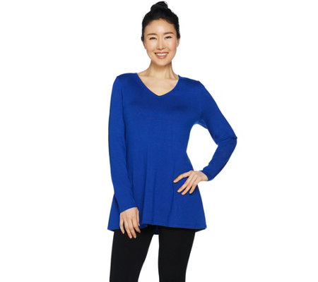 As Is Susan Graver Modern Essentials Rayon Nylon A Line Sweater