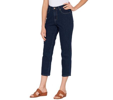 Brooke Shields Timeless Regular Slim Leg Crop Jeans