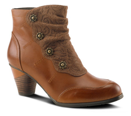 Spring Step L'Artiste Leather Ankle Boots - Belgard