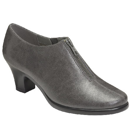 Aerosoles Heel Rest Booties w/ Zipper - E Mail