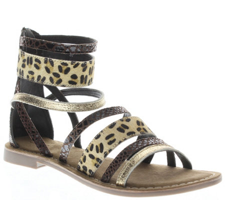 Azura by Spring Step Leather Gladiator Sandals- Tunisia