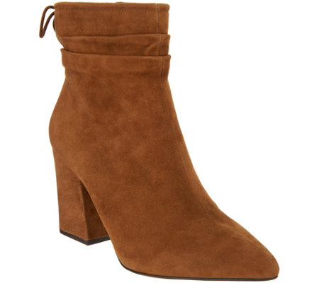 Vince Camuto Suede Block Heeled Ankle Boots Salali