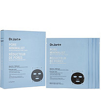Dr. Jart Set of 5 Pore Minimalist Black Charcoal Sheet Masks - A345575