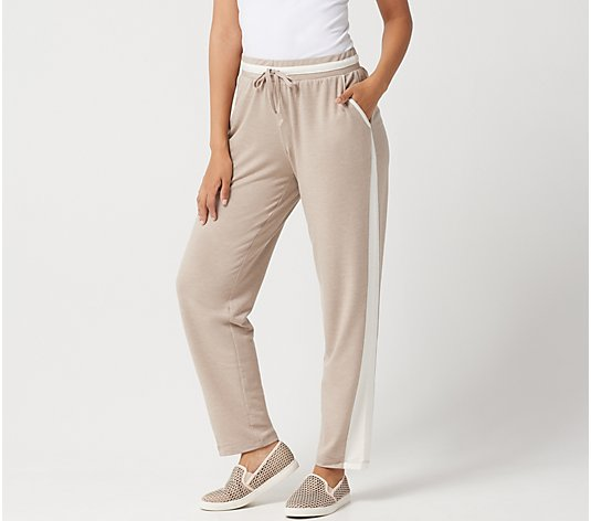 LOGO Lounge by Lori Goldstein French Terry Pant with Side Godets