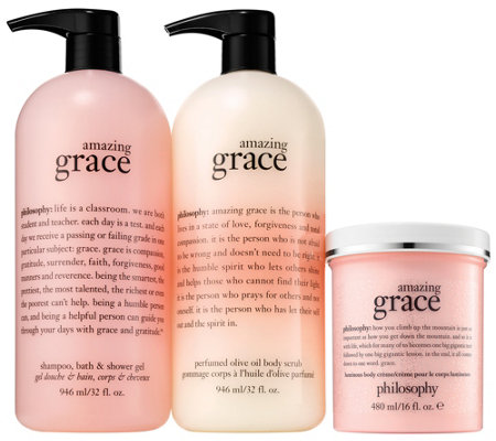 philosophy with grace & love we glow super-size fragrance set