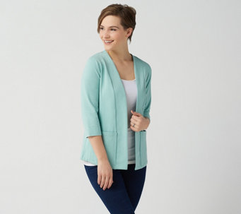 cd3a3c26b3 Essentials Perfect Jersey 3 4-Sleeve Cardigan - A351575