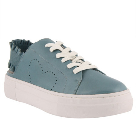 Azura by Spring Step Leather Lace-up Shoes - Backstrap