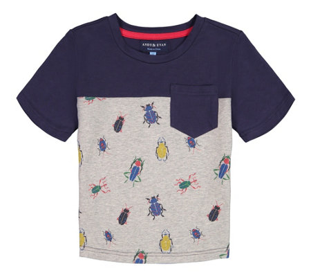 Andy /& Evan Little Boys Polo Tee with Ribbing