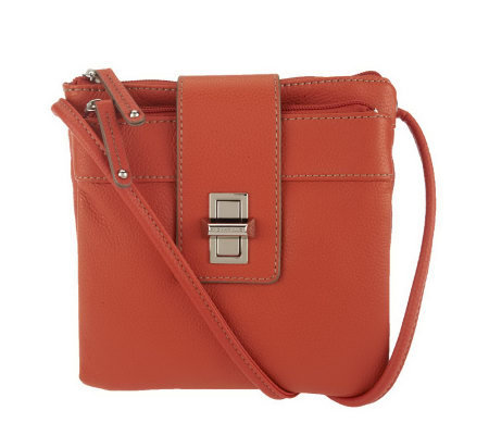 Tignanello Pebble Leather Small Organizer Crossbody